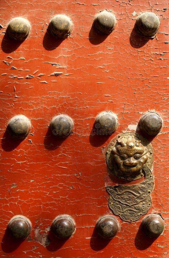 kinesiskt dörrtempel arkivfoto