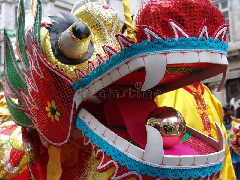 kinesiskt drakehuvud arkivfoton