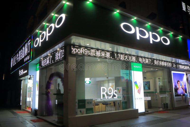 Kinesiskt företag Kina för OPPO-mobiltelefon arkivfoto