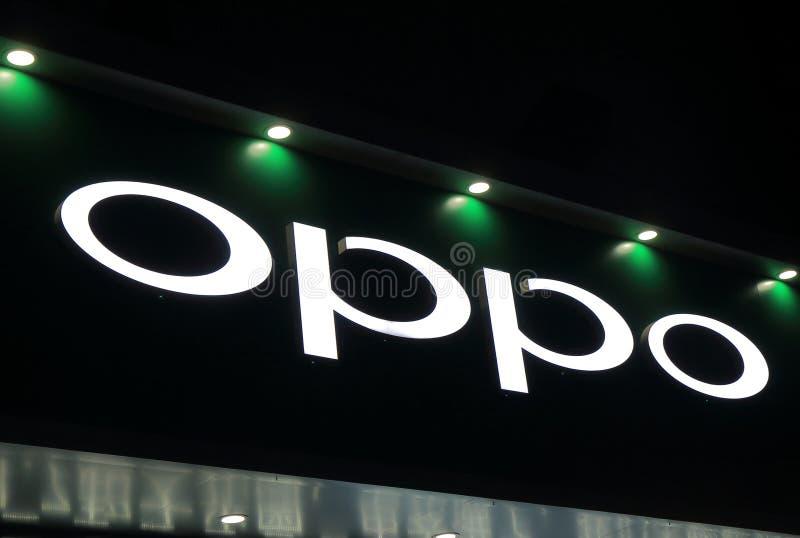 Kinesiskt företag Kina för OPPO-mobiltelefon royaltyfri fotografi