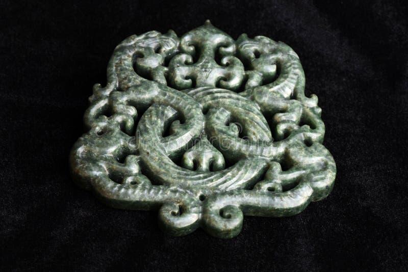 Kinesiskt forntida snida för jade arkivbilder