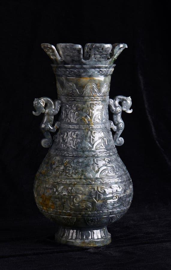 Kinesiskt forntida snida för jade arkivbild
