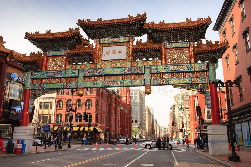 Kinesiskt kamratskap utfärda utegångsförbud för Washington DC Chinatown royaltyfri bild