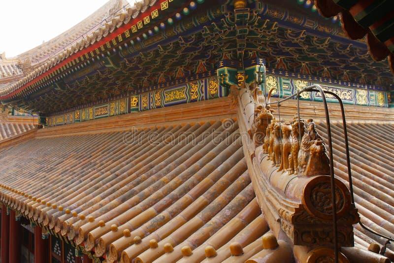 kinesiskt klassiskt tak för byggnader arkivfoton