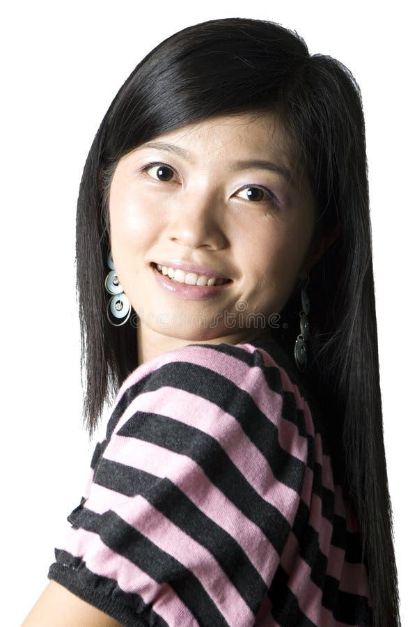 kinesiskt le för flickastående royaltyfri bild