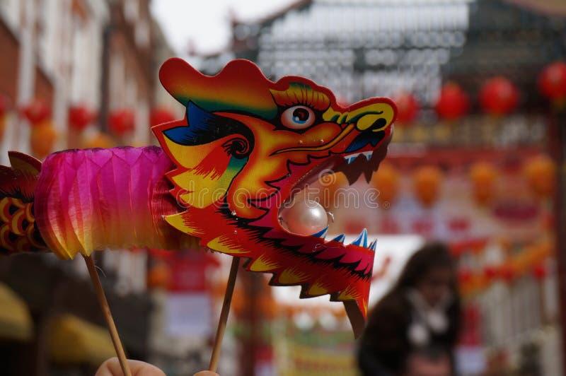 kinesiskt london nytt år arkivbild