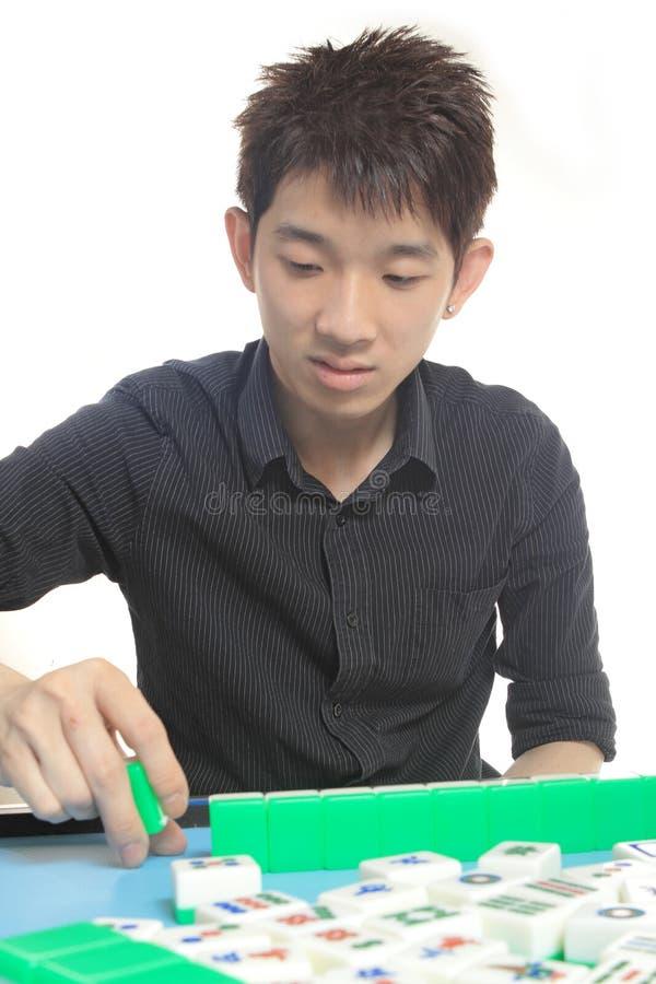 Kinesiskt manspelrum Mahjong royaltyfria foton