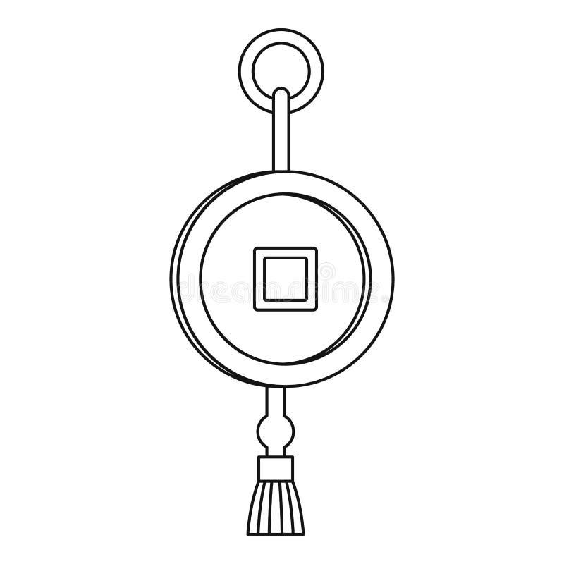 Kinesiskt mynt för Feng shui med hålsymbolen stock illustrationer