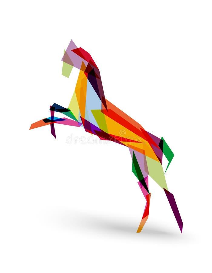 Kinesiskt nytt år av mappen för triangel EPS10 för häst den färgrika.