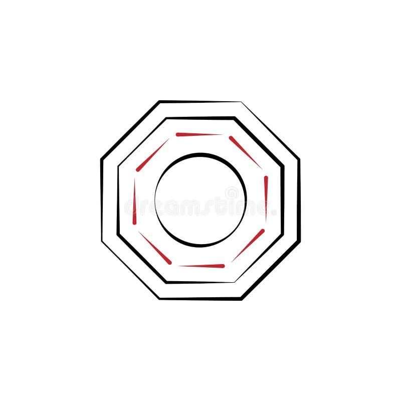 Kinesiskt nytt år baguasymbol Kan användas för rengöringsduken, logoen, den mobila appen, UI, UX stock illustrationer