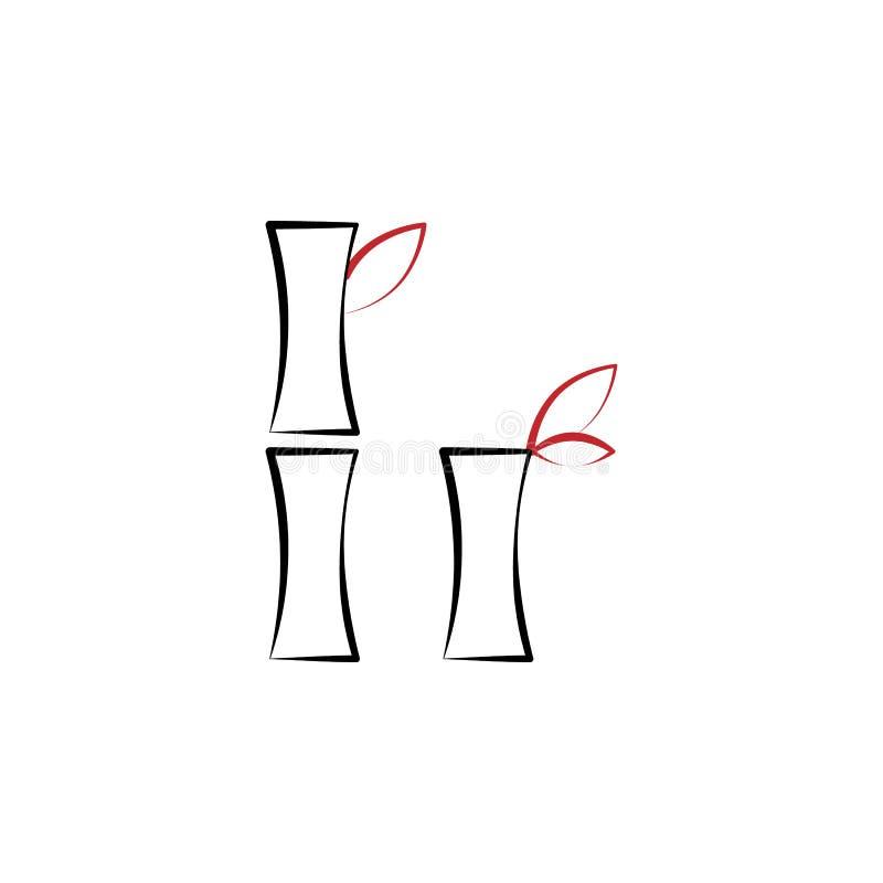 Kinesiskt nytt år bambusymbol Kan användas för rengöringsduken, logoen, den mobila appen, UI, UX royaltyfri illustrationer