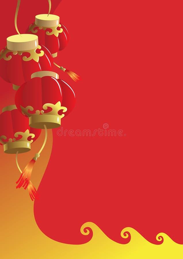 kinesiskt nytt år för bakgrund stock illustrationer