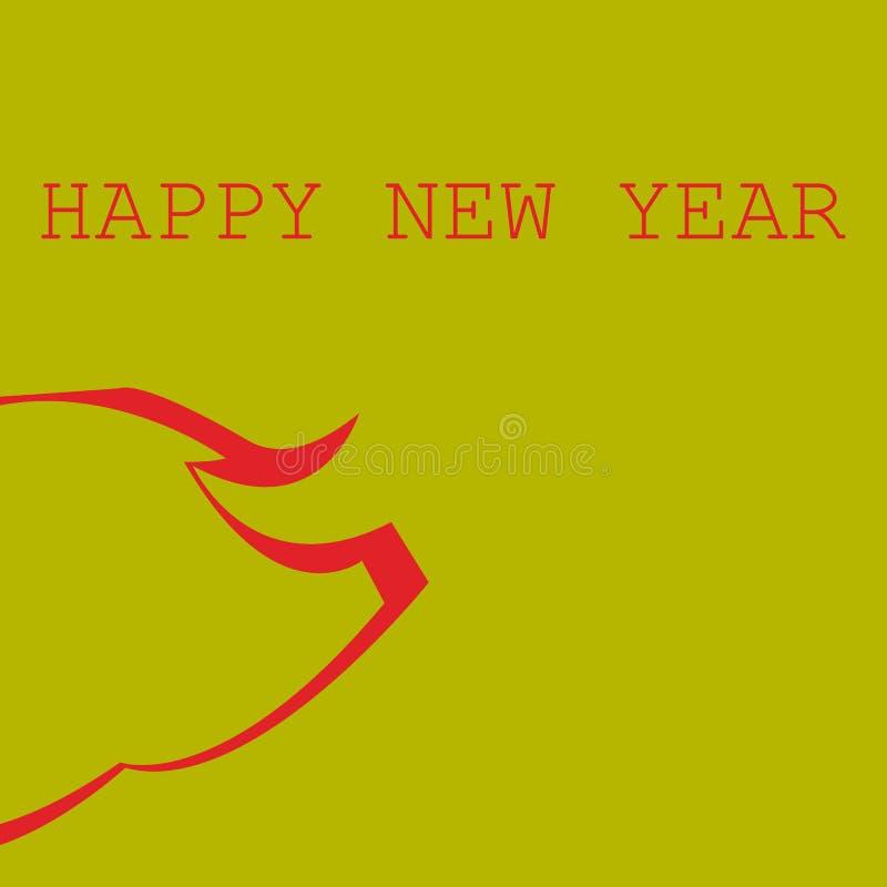 Kinesiskt nytt år för baner 2019 Modern plan illustration Bakgrund stock illustrationer