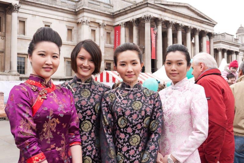 kinesiskt nytt år för berömmar arkivbild