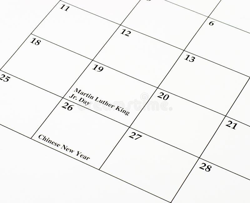 kinesiskt nytt år för kalender royaltyfria bilder