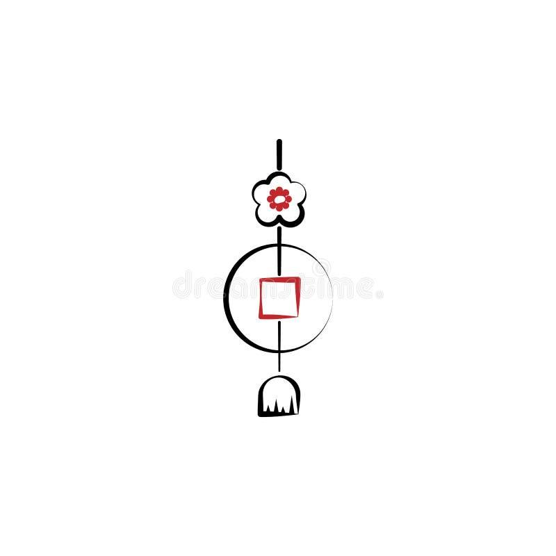 Kinesiskt nytt år hängesymbol Kan användas för rengöringsduken, logoen, den mobila appen, UI, UX stock illustrationer