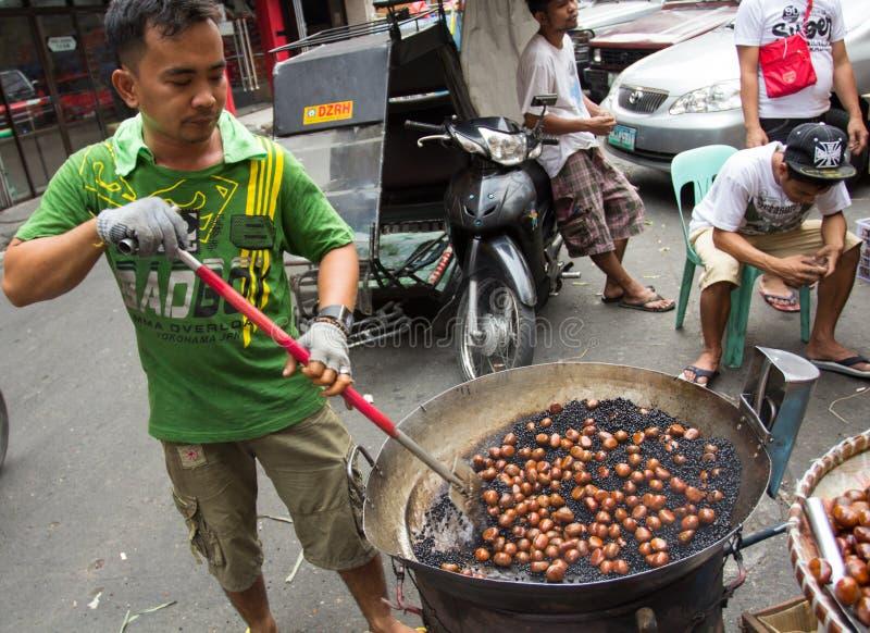 Kinesiskt nytt år i Chinatown, Manila, Philippines royaltyfria foton