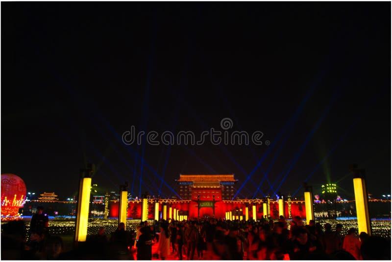 Kinesiskt nytt år 2018 i Xian arkivbilder