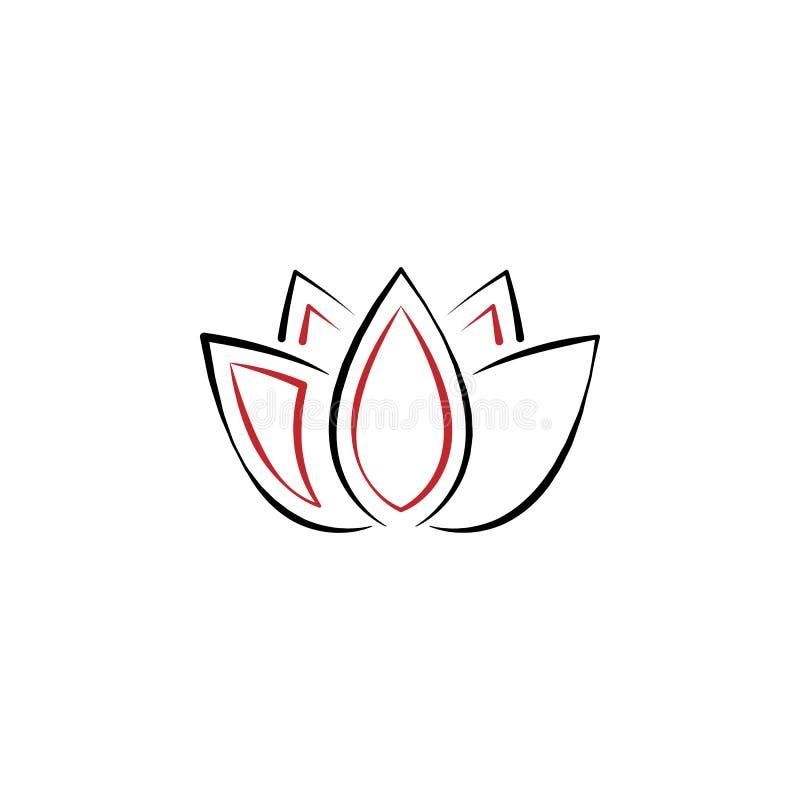 Kinesiskt nytt år lotusblommasymbol Kan användas för rengöringsduken, logoen, den mobila appen, UI, UX vektor illustrationer