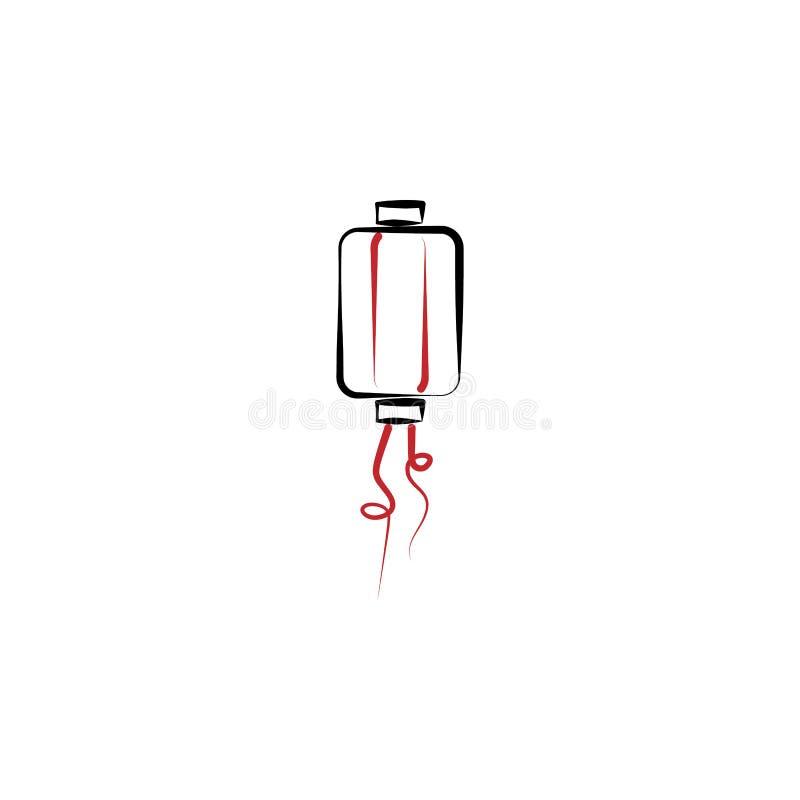 Kinesiskt nytt år lyktasymbol Kan användas för rengöringsduken, logoen, den mobila appen, UI, UX royaltyfri illustrationer
