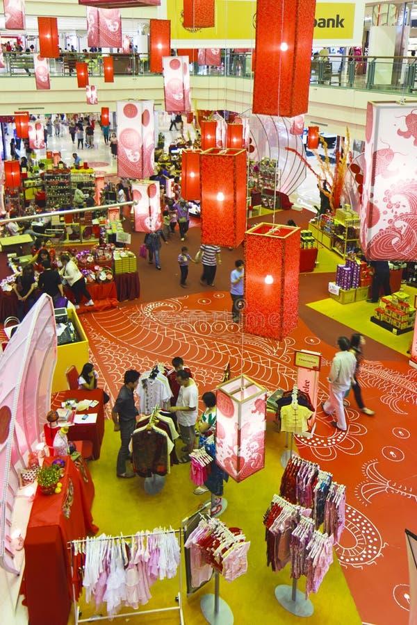 kinesiskt nytt shoppingår royaltyfria foton