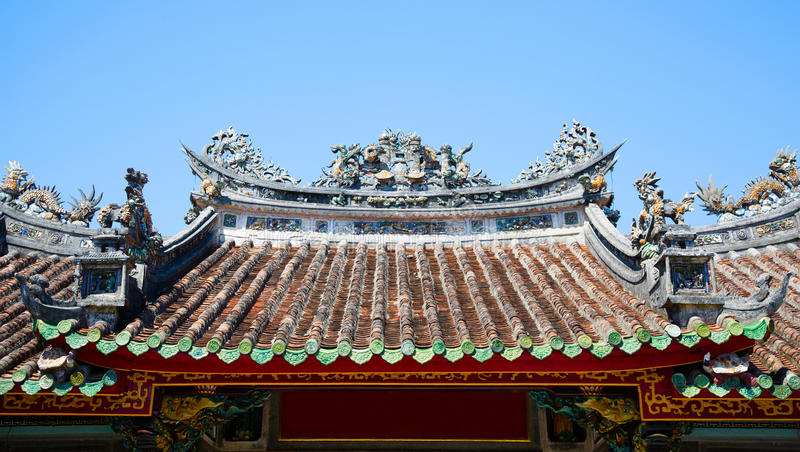 kinesiskt tak royaltyfria foton
