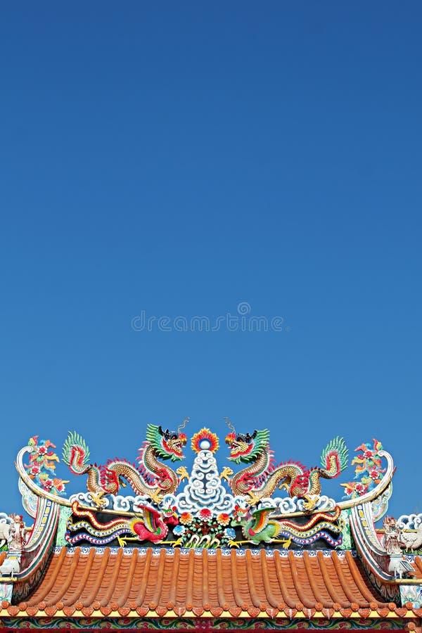 kinesiskt taktempel arkivbild