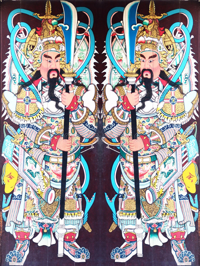 kinesiskt tempel för dörrar s arkivbilder