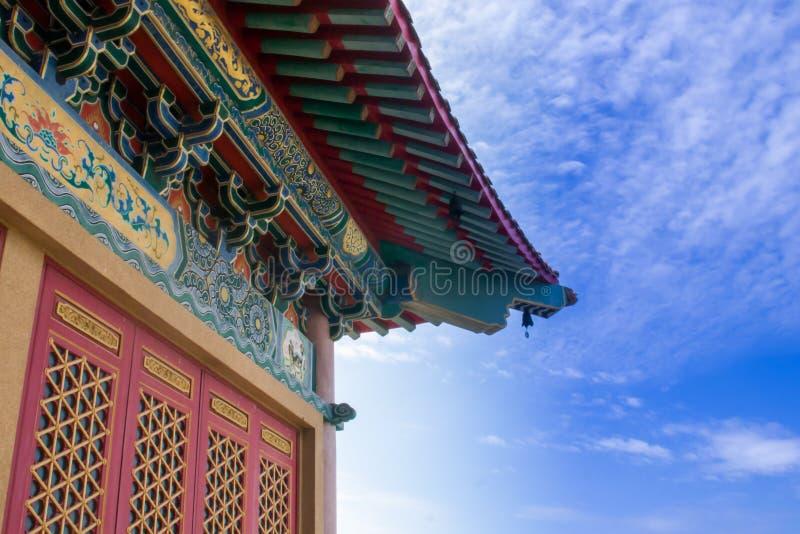 kinesiskt tempel thailand arkivfoton