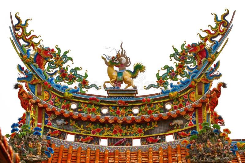 Kinesiskt tempeltak arkivfoton