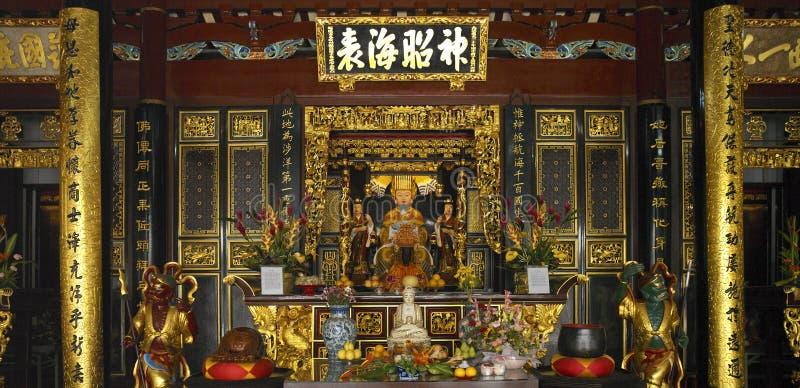 kinesiskt thian hockkengsingapore tempel royaltyfri foto