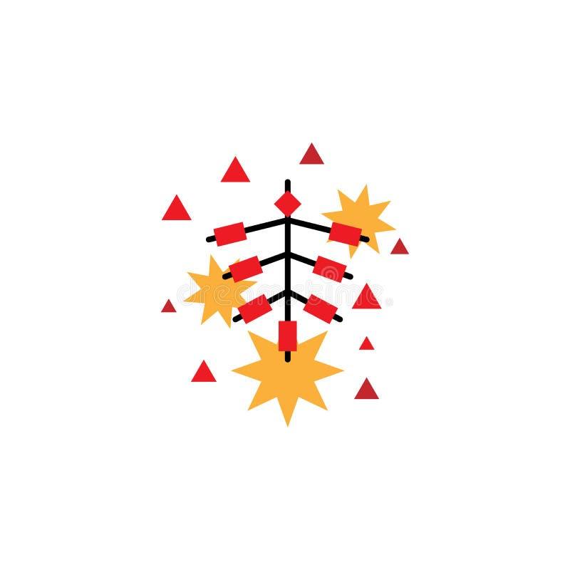 Kinesiskt traditionellt, firecrackerssymbol Best?ndsdel av den kinesiska traditionella illustrationen H?gv?rdig kvalitets- symbol vektor illustrationer