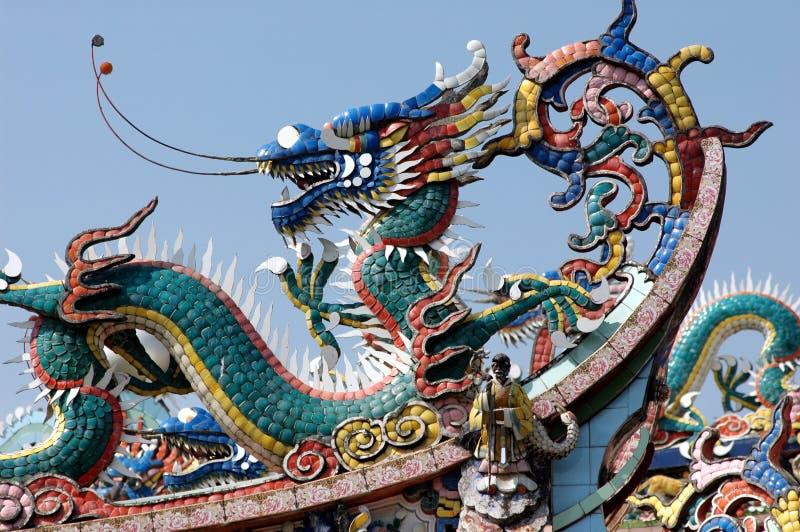 kinesiskt traditionellt hörntaktempel arkivbild