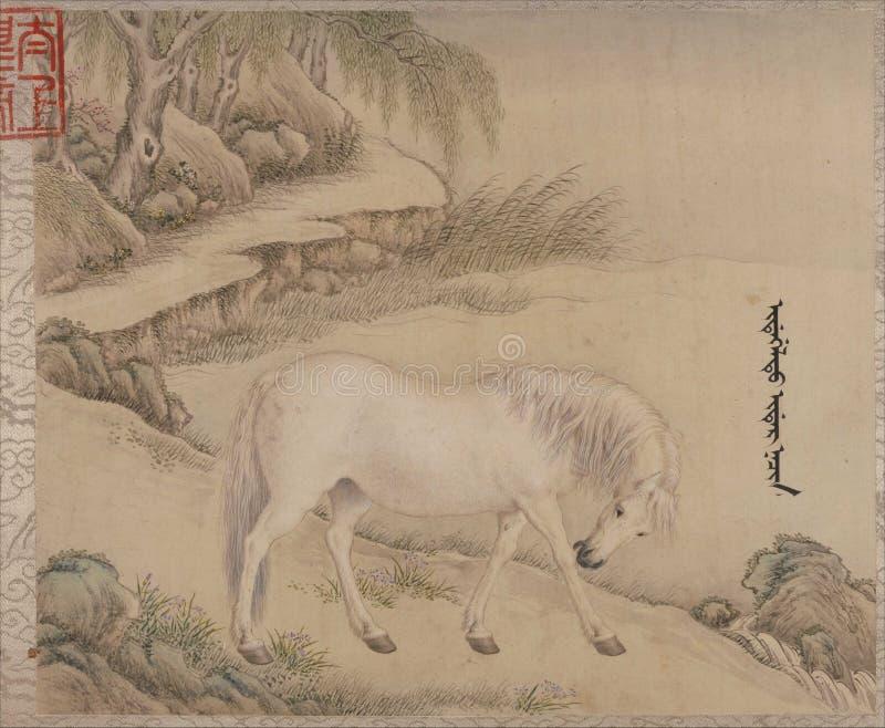 Kinesiskt traditionellt måla djur royaltyfri bild