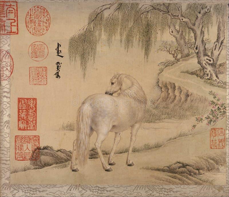 Kinesiskt traditionellt m?la djur royaltyfri fotografi