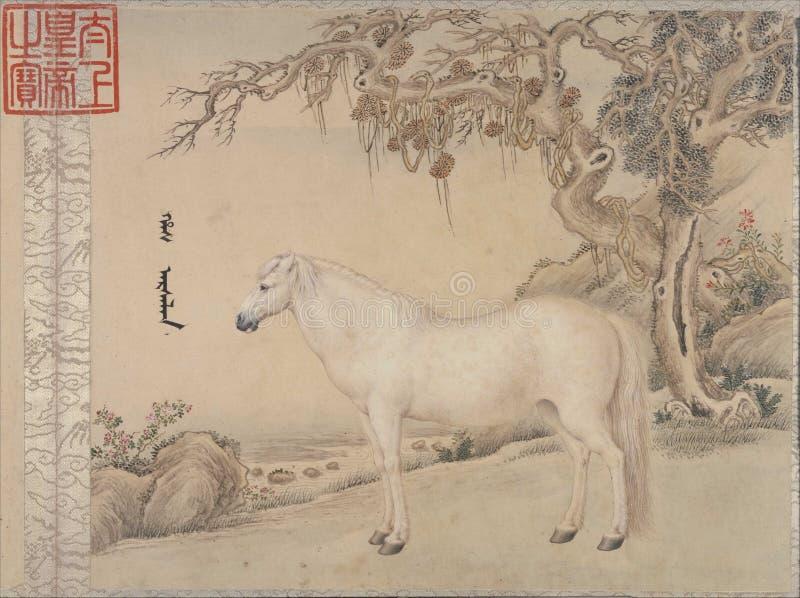 Kinesiskt traditionellt m?la djur royaltyfria foton