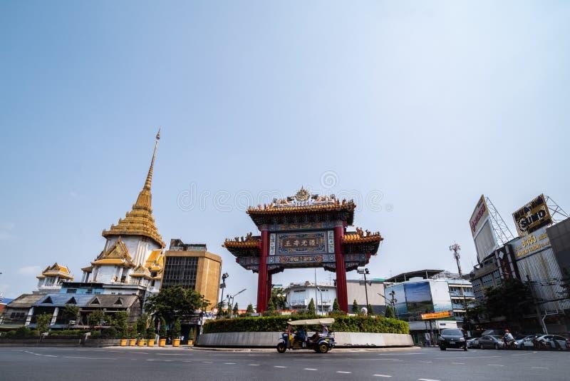 Kineskvarter Bangkok fotografering för bildbyråer