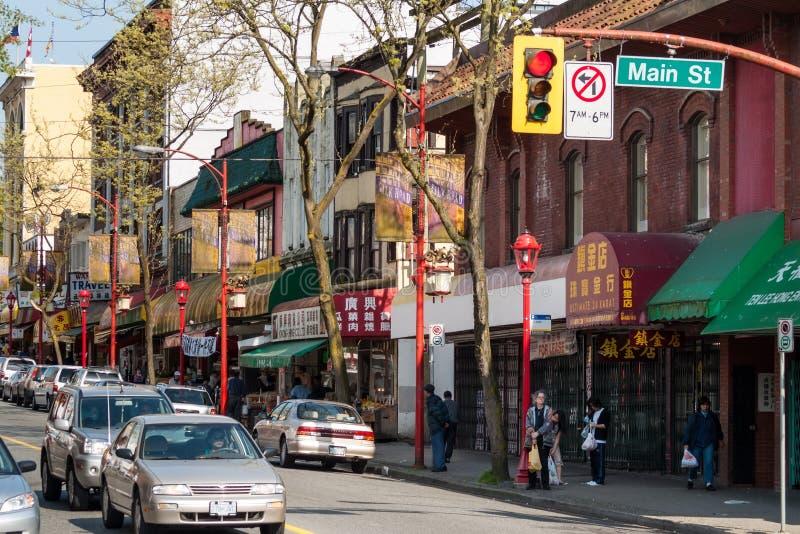 Kineskvarter i Vancouver, Kanada arkivbild