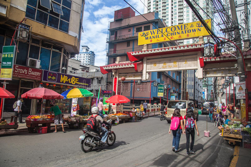 Kineskvarter Manila royaltyfri fotografi