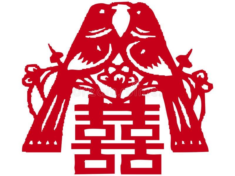 kinessnittpapper royaltyfri illustrationer