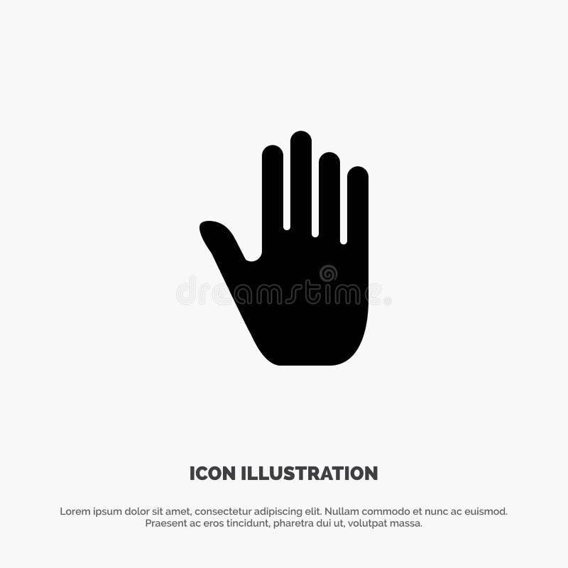 Kinetisch gedrag, Gebaren, Hand, Interface, stevige Glyph-Pictogramvector vector illustratie