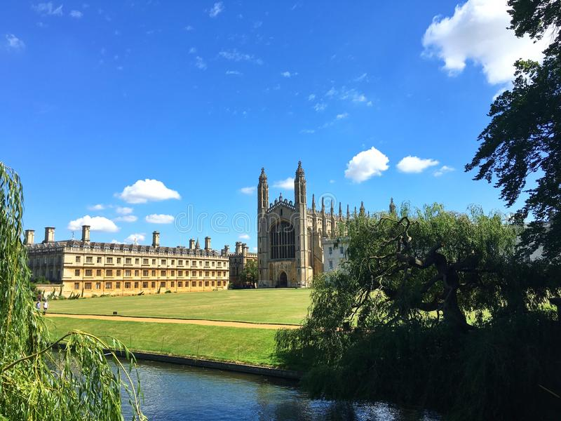 King& x27; коллеж s, Кембридж стоковое изображение rf
