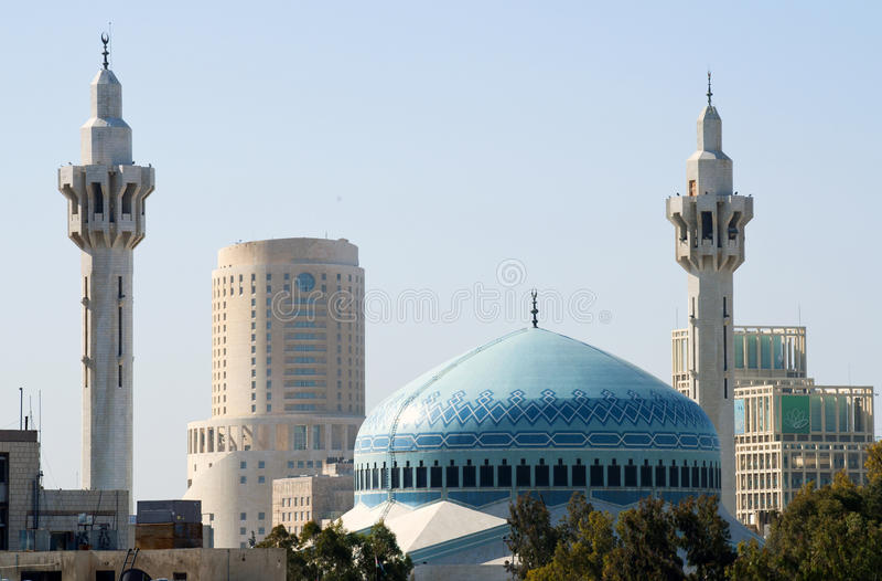 King Abdullah Mosque,Jordan royalty free stock photo