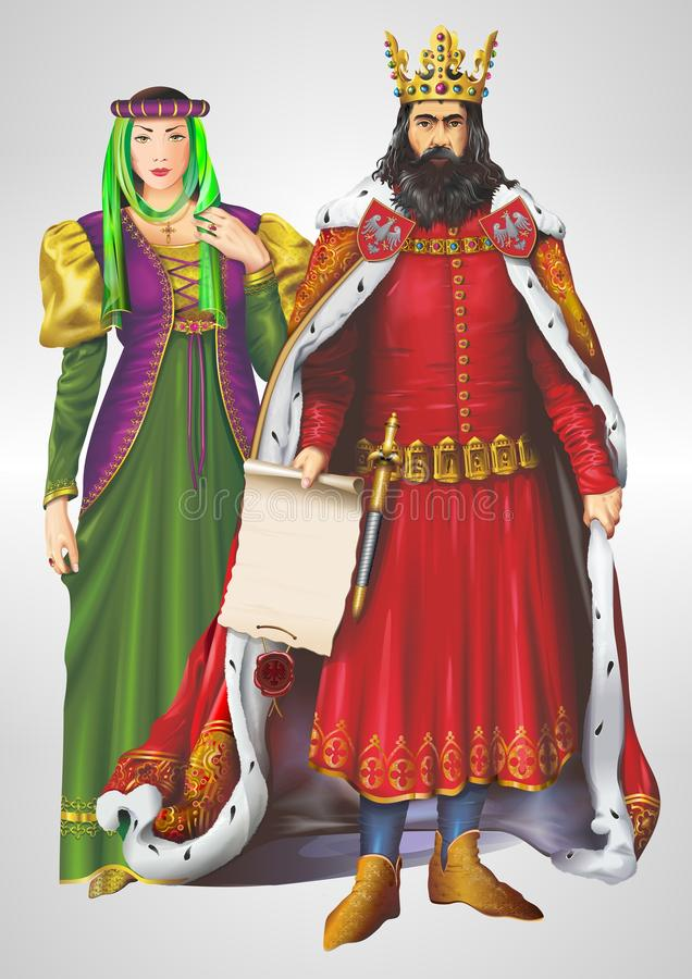 Free King And Queen Illustration Royalty Free Stock Images - 35916249