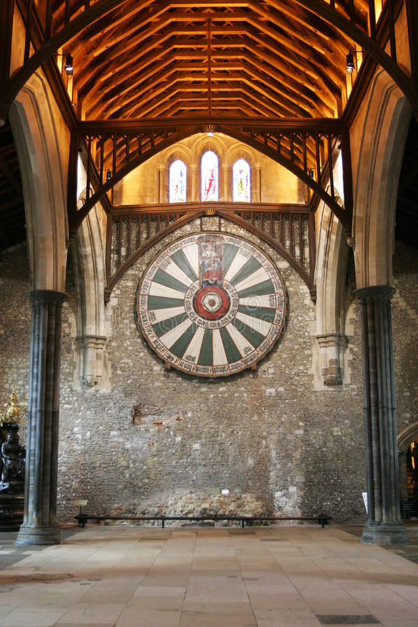 Free King Arthur S Round Table On Temple Wall In Winchester England U Stock Image - 48713361