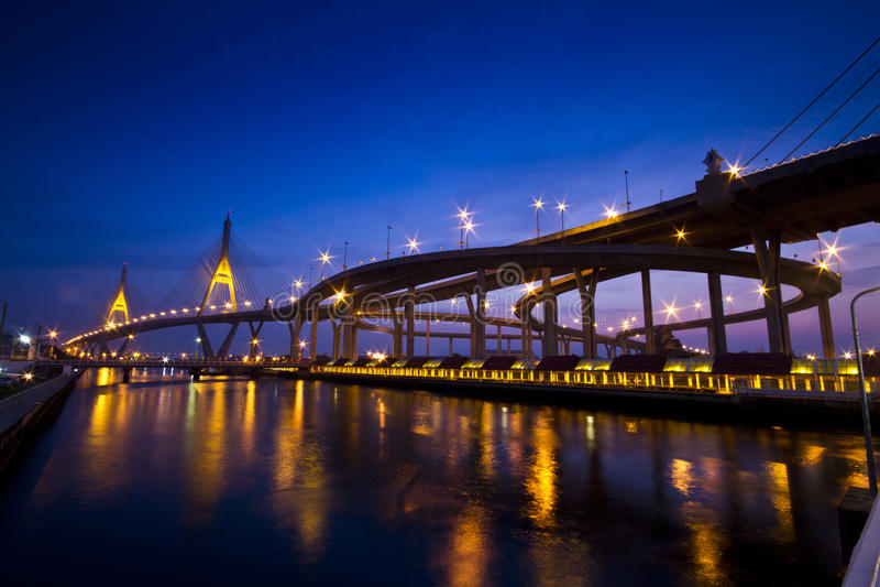 King Bhumiphol Bridge Stock Images