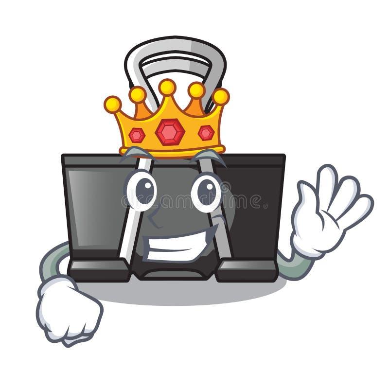 King binder clip for charcter on documents. Vector illustration stock illustration