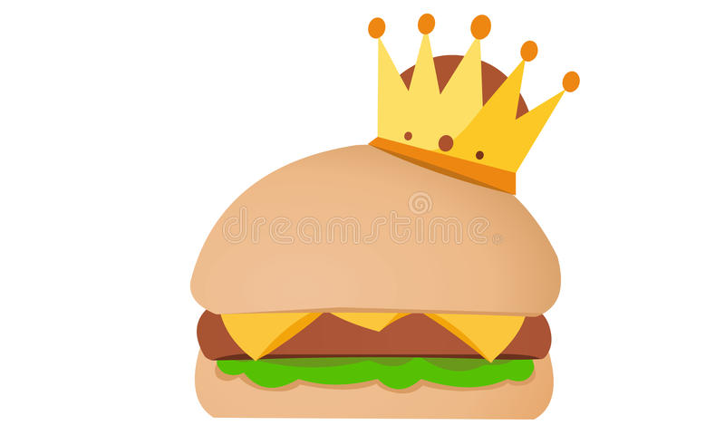 King Of Burger. Illustrations For business projects. For The websites, For business cards, For company stationery and others vector illustration