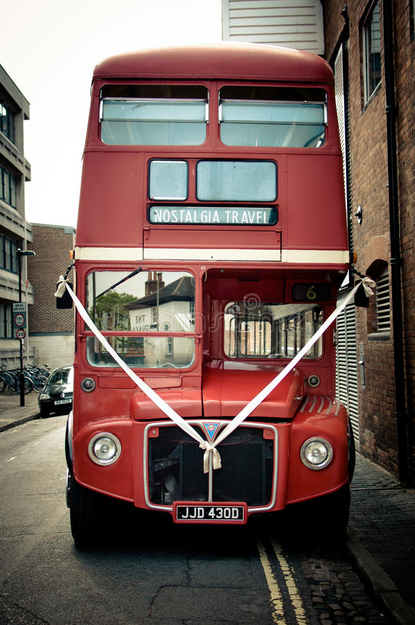 The king of Buses. The icon of public transports in the Uk, the beautiful Routemaster ready for a special day royalty free stock photos