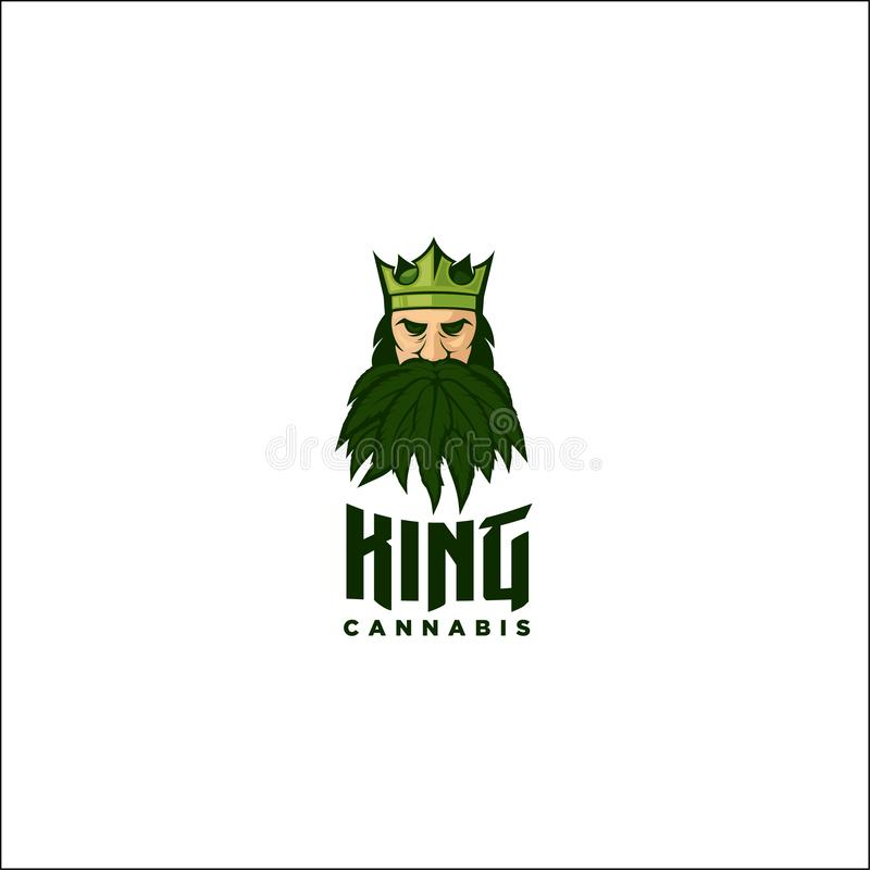 King of cannabis vector illustration